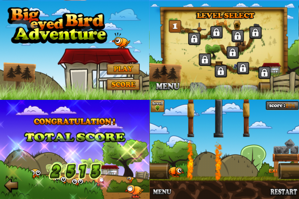 Screenshot Big Eyed Bird Adventure